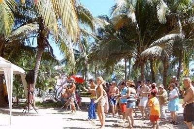Хэлоуин на пляже в Мексике